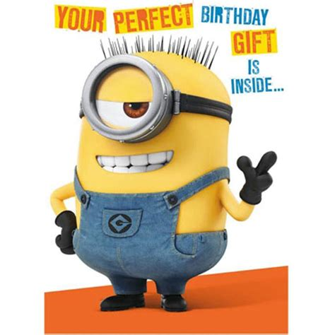 Minion Gift Card - minion birthday card with assemble your own 3d minion minion shop