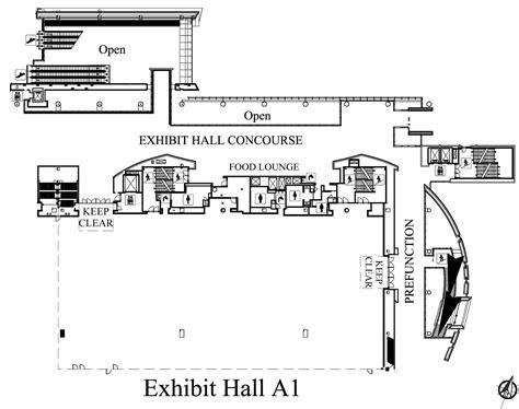 music city center floor plan exhibit hall a nashvillemusiccitycenter com