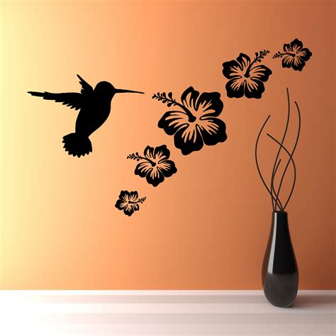 Hummingbird House Plans by Vinyl Wall Stickers Flowers Home Decor Amp Interior Exterior