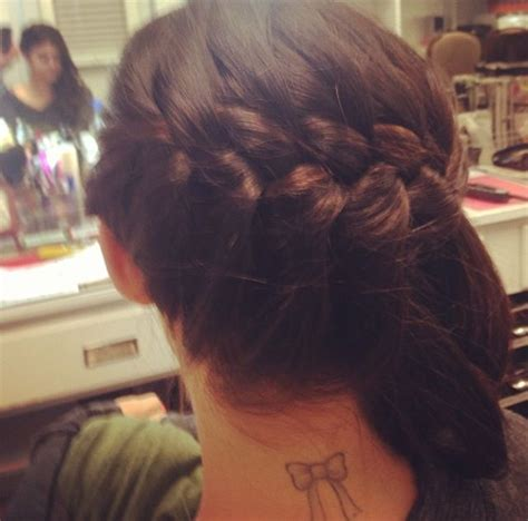 lucy hale tattoo hale s bow style