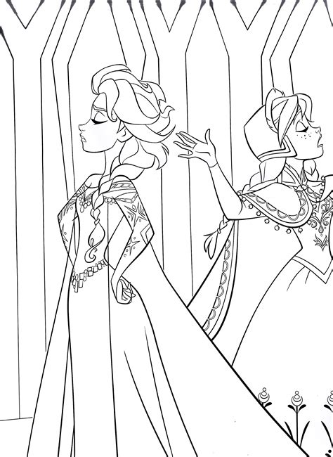 frozen coloring pages baby elsa disney s frozen colouring pages cute kawaii resources
