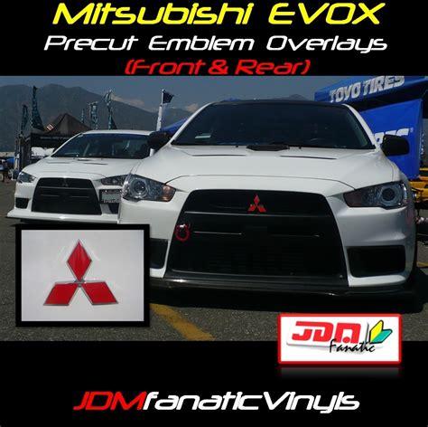 mitsubishi evo emblem 08 13 mitsubishi lancer evox precut emblem front rear overlays