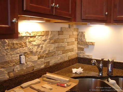 kitchen stone backsplash ideas kitchen backsplash ideas materials designs and pictures
