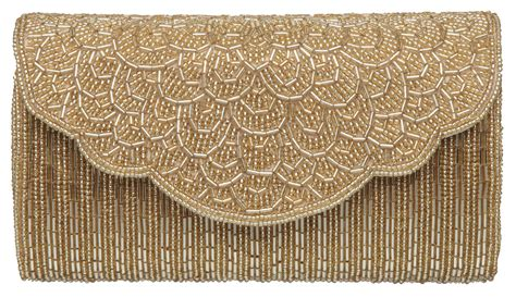beaded clutch bag dune e magical cylinder beaded clutch bag in metallic lyst