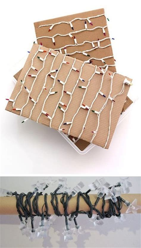 wrap n roll christmas light storage 50 brilliant easy cheap storage ideas lots of tips and