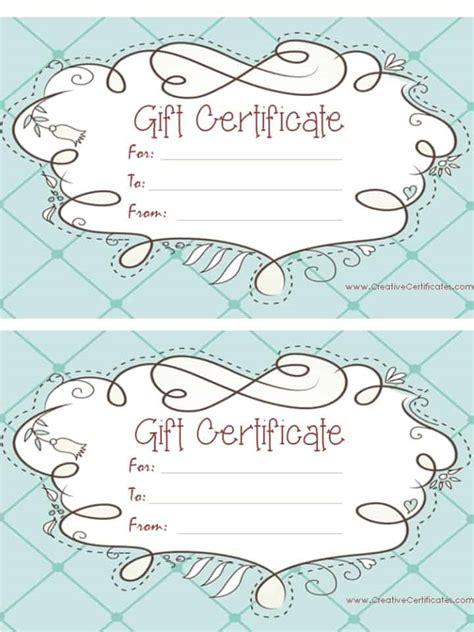 25 unique free printable gift certificates ideas on pinterest