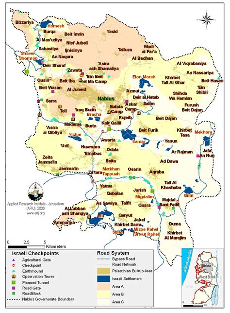 nablus map fonsa friends of nablus and surrounding areas