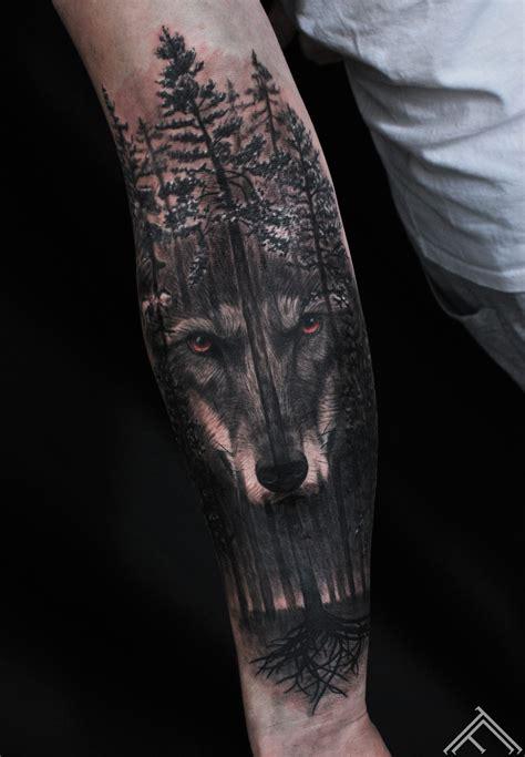 wolf forest tattoo janis gallery tattoofrequency tetovēšanas