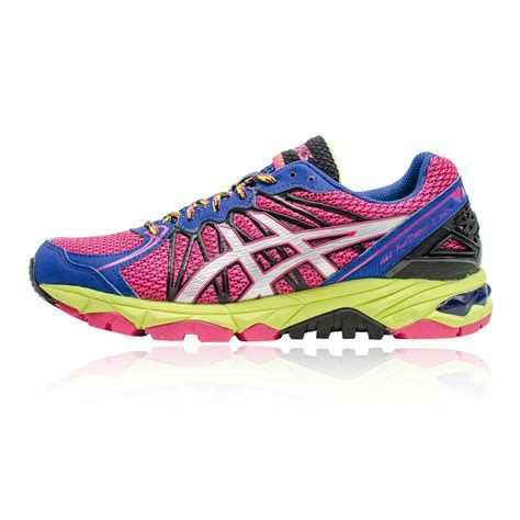 cushioned neutral running shoes asics gel fujitrabuco 3 neutral womens pink purple