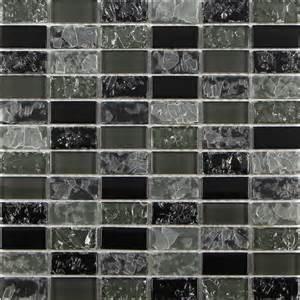 Cracked Glass Tile Backsplash - black cracked crystal glass mosaic tile for backsplash 2348black