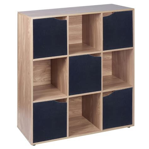 modular bookcases with doors 9 cube oak wooden bookcase shelving display modular