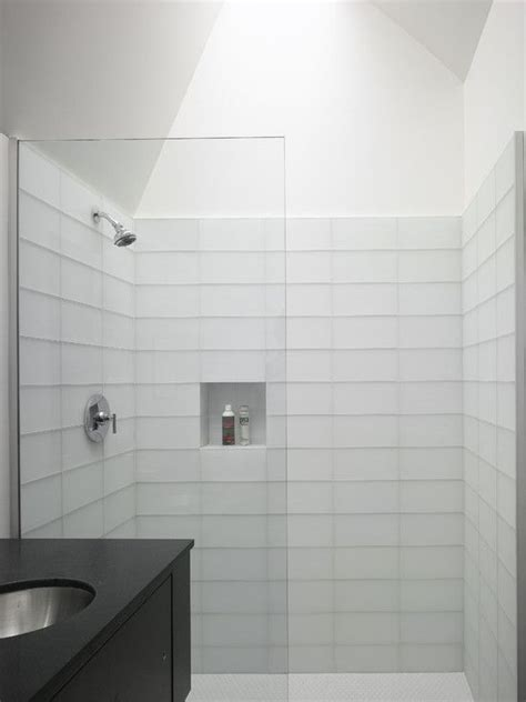White Bathroom Tile Ideas 37 White Rectangular Bathroom Tiles Ideas And Pictures