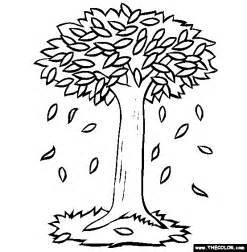 falling leaves coloring free coloring pages of leaves falling from tree
