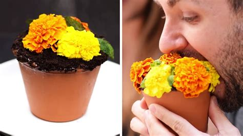 diy flower food recipe that will change your life trick recipes flower pot cake recipe cake hacks easy