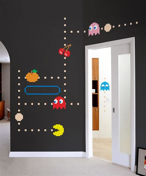 video game bedroom decor blik pac man wall decals