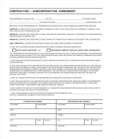 Subcontractor Agreement Form Subcontractor Services Agreement Youtube Construction Subcontractor Prequalification Form Template
