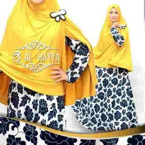 maxi umbrella motif teratai model baju muslim modern