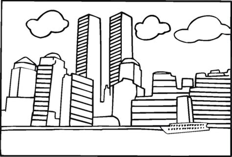 coloring pages of world trade center 911 coloring sheet for kindergarten coloring pages
