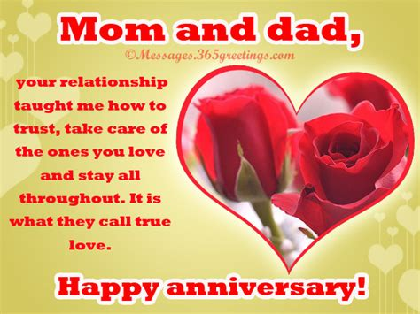 Wedding Anniversary Greetings For Parents by Anniversary Messages For Friends 365greetings