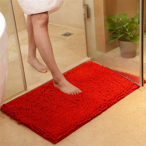 Absorbent Bath Rugs by Washable Soft Shaggy Non Slip Absorbent Bath Mat Bathroom