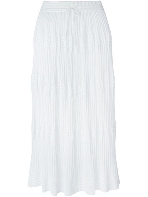 knit maxi skirt lyst m missoni knit maxi skirt in white