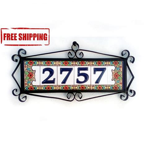 Address Plaques For Front Door - address plaques modern house number house number tiles