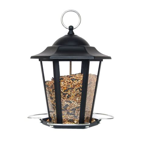 supa premium metal lantern wild bird seed feeder black
