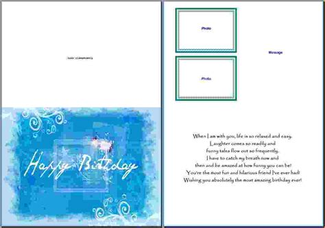 word card template 10 microsoft word birthday card template pay stub template