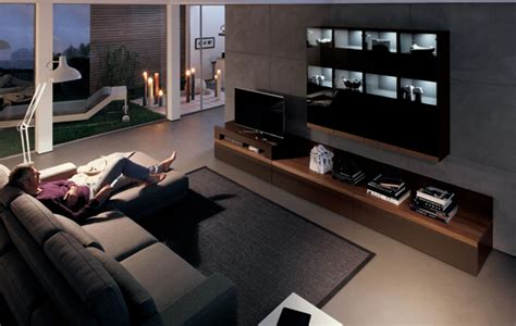 tv stand furniture with wooden wall unit by hulsta home