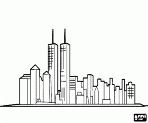 New York Skyline Coloring Page new york skyline outline coloring pages
