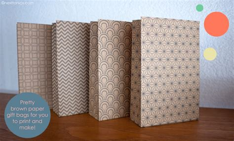 brown paper bag pattern pretty patterned paper bags next to nicx