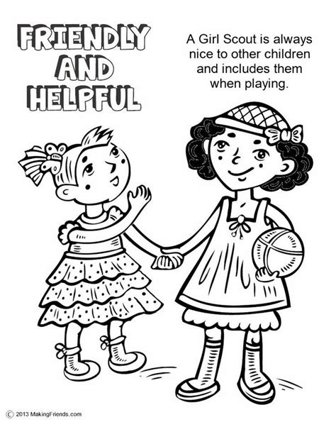 Coloring Page For Yellow Daisy Petal Coloring Home Scout Promise Coloring Page