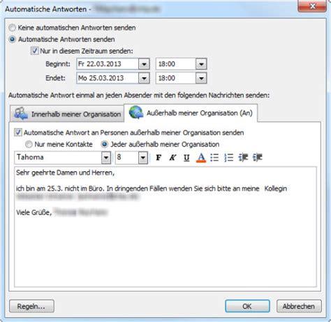 Word Vorlage In Outlook Einbinden Abwesenheitsnotiz In Outlook Anlegen So Geht S Chip