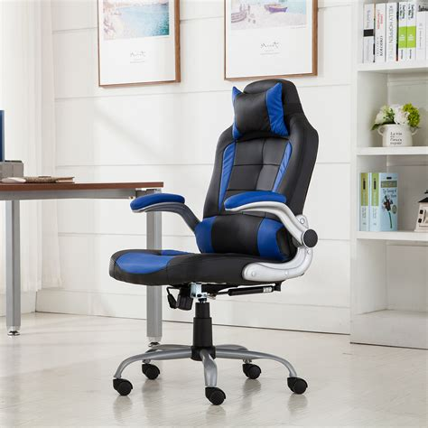 padded cing chair racing office chair reclining back padded headrest pu