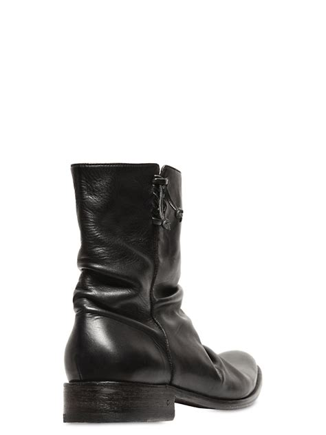 varvatos boots varvatos jimi leather boots in black for