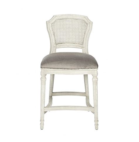Grey Velvet Counter Stools by Camilla Country White Grey Velvet Counter Stool