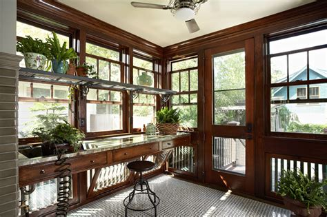 Craftsman Style Windows Decor Morningside Bungalow Craftsman Sunroom Minneapolis By Meriwether Inc
