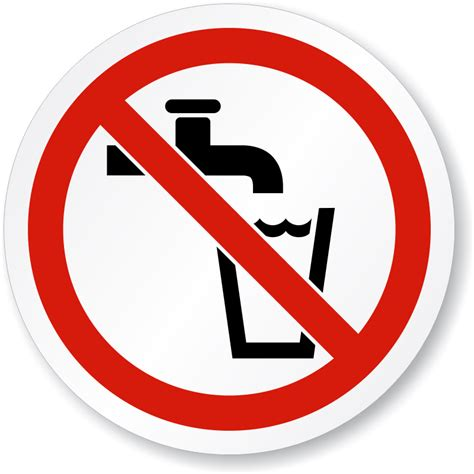 not water image gallery no water sign