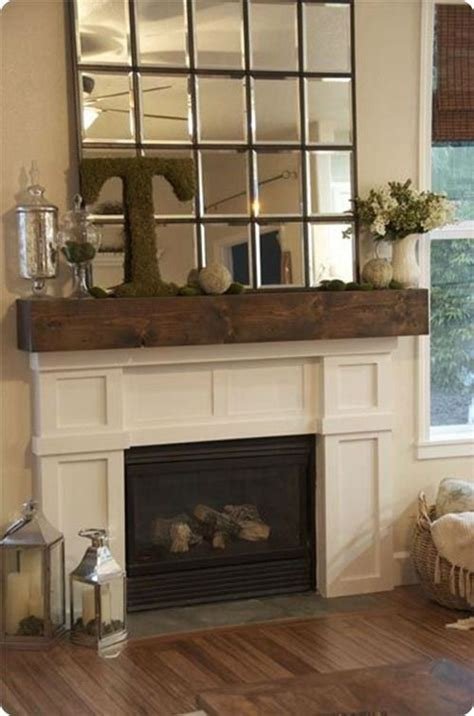 Hanging A Mirror Above A Fireplace by 25 Best Rustic Mantle Decor Ideas On