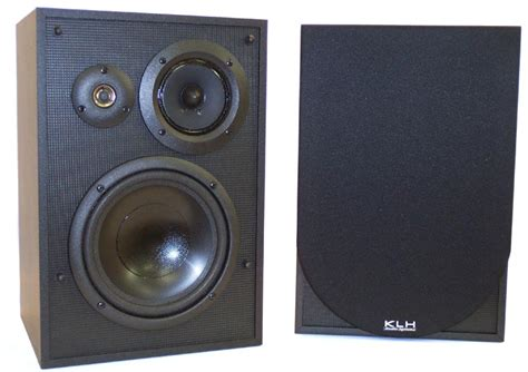 klh 3 way 125 watt bookshelf speakers refurbished