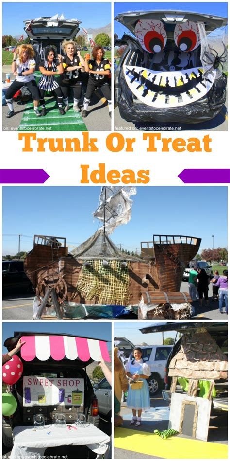 treat ideas trunk or treat ideas events to celebrate