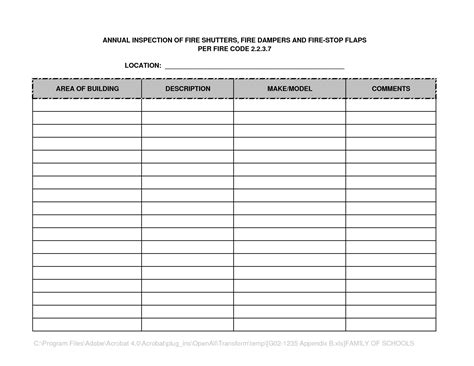 sprinkler inspection report template best photos of inspection form template