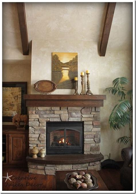 rustic fireplace mantle i the darker wood and the