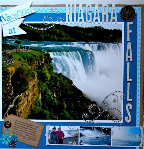 scrapbook layout waterfalls layout vacation at niagara falls
