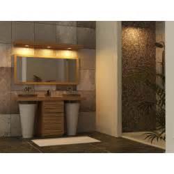meuble salle de bain en teck timare 224 vasque marbre