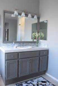 Grey Bathroom Cabinets How To Paint Oak Cabinets