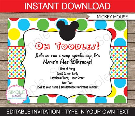 17 best ideas about mickey mouse clubhouse invitations on