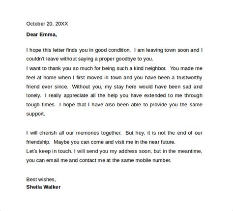 farewell letter to colleagues template sle farewell letters to coworkers 12 documents in