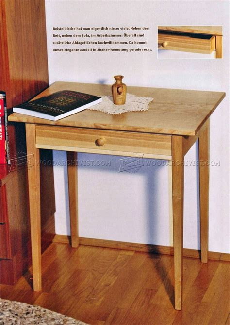 wood side table plans one drawer side table plans woodarchivist