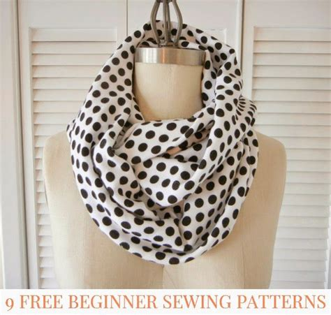 sewing pattern for infinity scarf 9 more free beginner sewing patterns